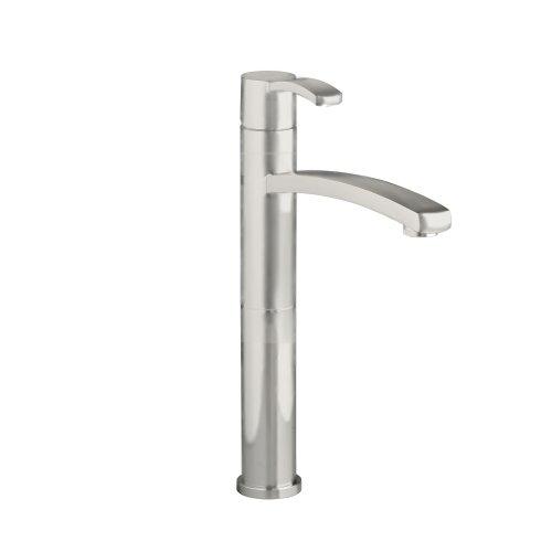 American Standard 7430.151.295 Berwick Single Control Vessel Lavatory Faucet Less Drain, Satin Nickel