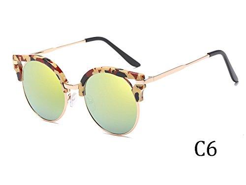 Oro De Insólito 1603C6 De Del Sol Espejo 1603C5 Revestimiento TIANLIANG04 Mujer Gafas Bastidor De El vZBHXFq