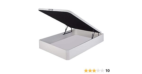 marckonfort Canapé abatible 90X200 de Gran Capacidad con Esquinas Redondeadas en Madera, Base tapizada 3D Transpirable Color Blanco