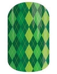 (Emerald Argyle - Jamberry Nail Wraps - Full Sheet - St Patrick's)