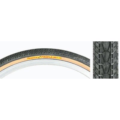 Panaracer Pasela Bicycle Tire, 700 x 28 Wire Bead, Brown Skin Wall ()