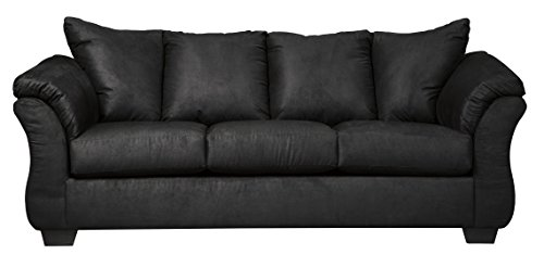 Sofa Leather Set Signature - Signature Design by Ashley 7500838 Darcy Sofa, Black