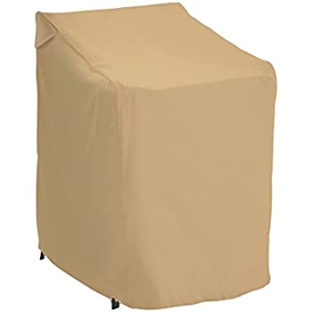 Classic Accessories Terrazzo Stackable Patio Chair Cover   All Weather  Protection Outdoor Furniture Cover (58972 EC)