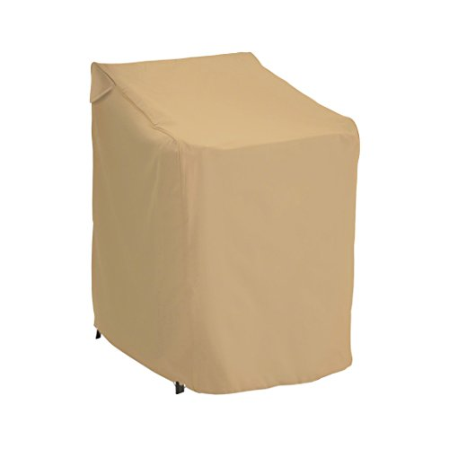 Classic Accessories Terrazzo Stackable Patio Chair Cover – All Weather Protection Outdoor Furniture Cover (58972-EC)