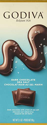 Godiva Chocolate Bar Tablet Dark Sea salt, 3.1 oz ()