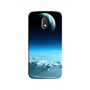 Cover It Up - Blue Planets from Space Moto E3 Hard Case