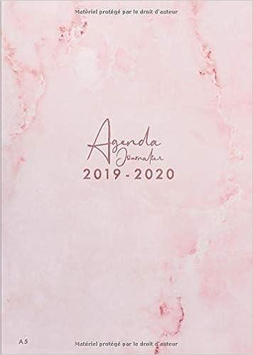 Agenda Journalier 2019 2020: Agenda 18 mois journalier 2019 ...