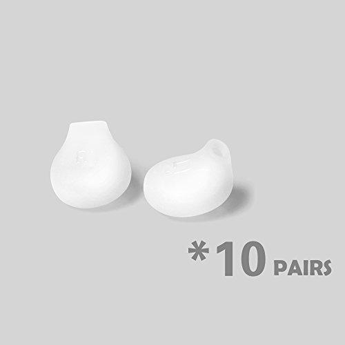 Cosmos  10 pares Auriculares eargels Buds Repuesto para Samsung Galaxy S6, S6 Edge (eo-eg920bw), color blanco