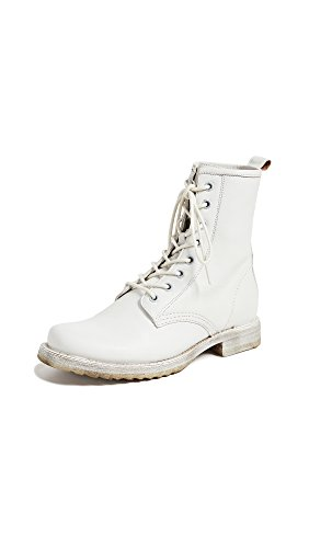 FRYE Women's Veronica Combat Ankle Boot White