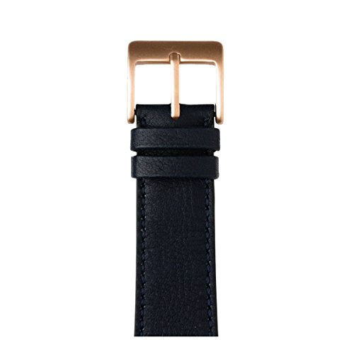 Roobaya | Premium Sauvage Leather Apple Watch Band in Dark Blue | Includes Adapters matching the Color of the Apple Watch, Case Color:Rose Gold Aluminum, Size:38 mm by Roobaya