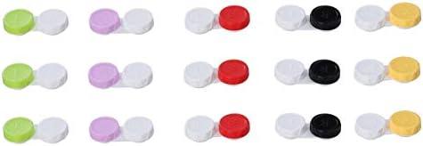 EXCEART 15 stuks lensopslag inweekkoffer draagbare contactlenzenbox lenzenhouder contactlenzenreinigingshouder geschikt voor reizen buitenshuis activiteiten buitenshuis contactlenzendrager