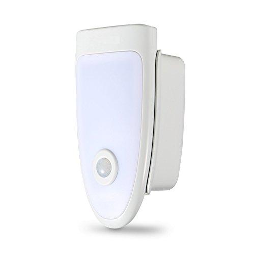 Number-One LED Motion Sensor Light Wireless Charging Plug-in Night Light / Flashlight, Rechargeable Emergency Light, Wall Light (Emergency Flashlights Plug In)