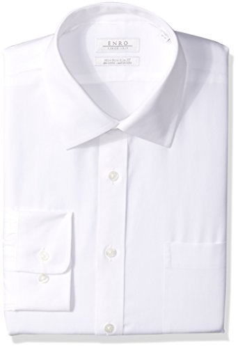 Slim Fit Pinpoint Oxford Dress Shirt, White 16 x 36/37 ()
