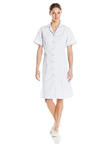 Red Kap Women's Short Sleeve Work Dress, White, Medium -