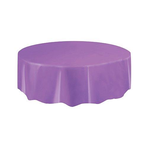 Round Purple Plastic Tablecloth 84