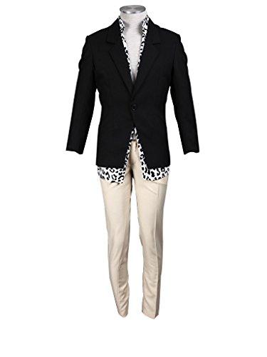 Hitman Reborn Lambo Costume (Mtxc Men's Katekyo Hitman Reborn Cosplay Costume Lambo 1st Size XX-Large Black)