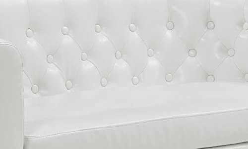 Modway Prospect Upholstered Contemporary Modern Loveseat In White Faux Leather