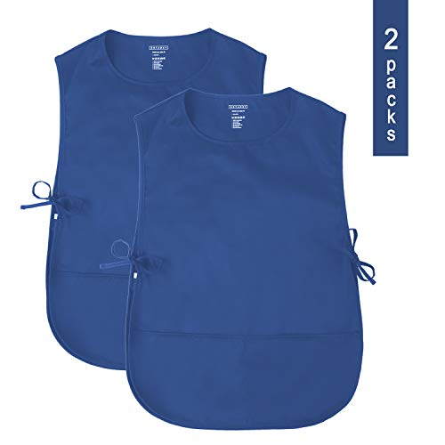 (ROTANET Unisex Cobbler Apron - Adjustable Ties/2 Pockets(Royal Blue, 2 Pack))