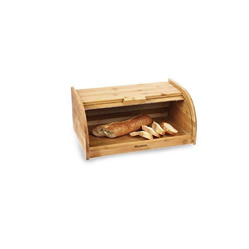 LEYENDAS Panera de bamb/ú Tapa Enrollable Opaca Tartas Pasteles Mejor Almacenamiento para Salsas Rollos y Galletas Cocina 40x25.5x18cm