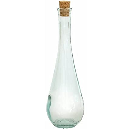"""9 3/4 """"Tall botella de gota de vidrio reciclado transparente ..."""