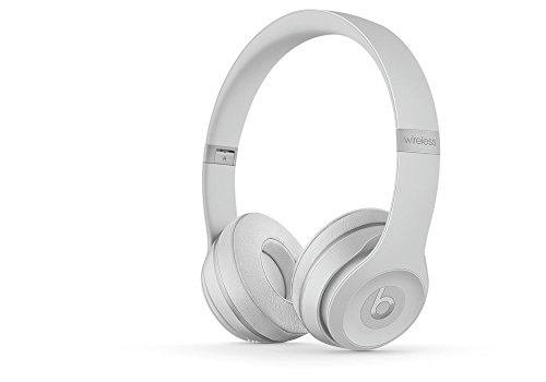 Beats Solo3 Wireless On-Ear Headphones Matte Silver - Beats by Dr Dre (Renewed)