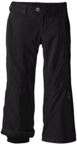 Spyder Girls Thrill Athletic Fit Pant, 20, Black/Black/Black