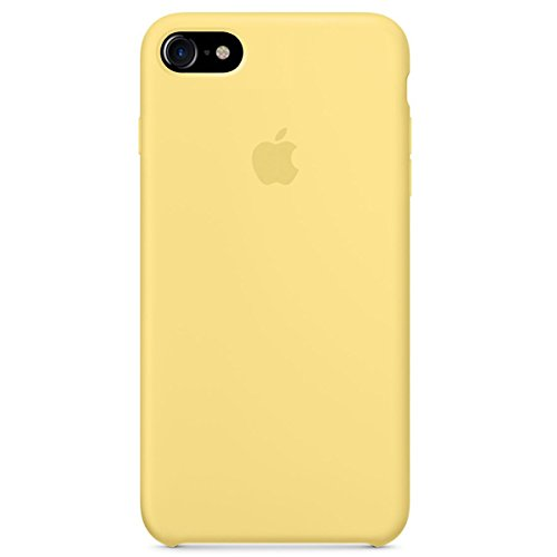 Dawsofl Soft Silicone Case Cover for Apple iPhone 8 (4.7inch) Boxed- Retail Packaging (Yellow)