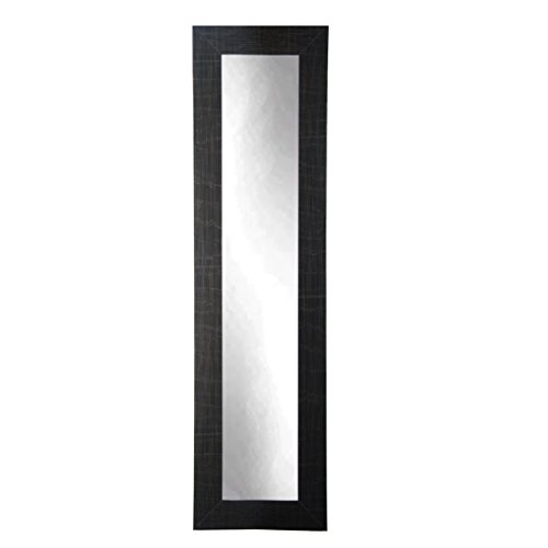 BrandtWorks BM5SKINNY Scratched Black Full Length Mirror, 71 x 16