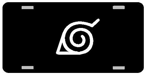 NARUTO Logo License Plate Gloss black (Anime License Plate)