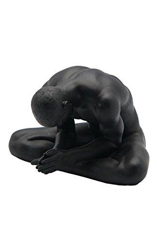 5.25 Inch Figure Male Nude Sitting Cross Legged Display Decor