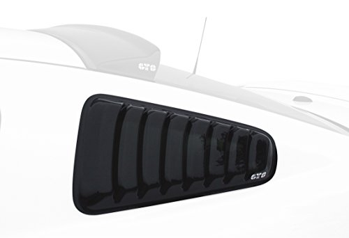 GT Styling GT4812S Smoke Louvered Quarter Window Cover (2010 Mustang Gt)
