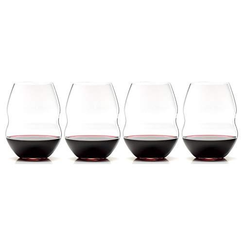 Riedel Swirl Stemless Red Wine Glass, Set of 4