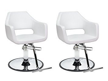 DUO Salon Styling Chairs 2 RICHARDSON WHT for Beauty Salo...
