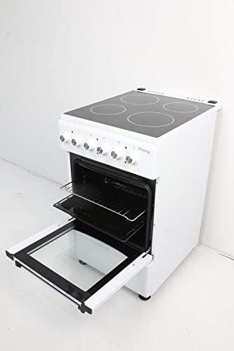 Cocina vitrocerámica 50 cm de ancho con horno eléctrico PROXY, color blanco, 4 zonas vitro y horno eléctrico 4 funciones.: Amazon.es: Grandes electrodomésticos
