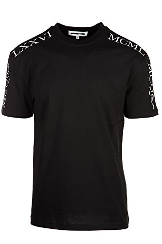 MCQ Alexander McQueen men's short sleeve t-shirt crew neckline jumper mcq gothic black US size S (US 36) 291571 RJT23 1090