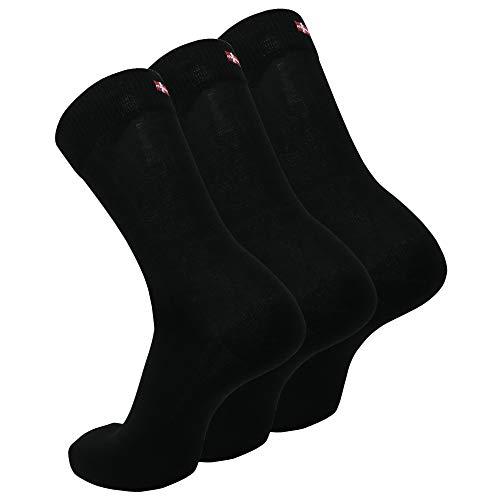 DANISH ENDURANCE Chaussettes en Coton pour Homme et Femme, Lot de 3 Paires, Respirantes, Douces et Fabriquées en Europe… 1