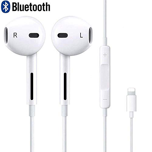 (Earphones,with Microphone Earbuds Stereo Headphones and Noise Isolating Headset Made Compatible with iPhone iPod iPad (Bluetooth Connectivity))