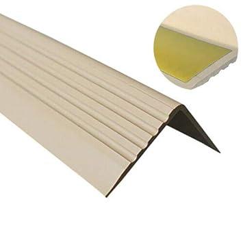 110CM DUNKELGRAU Treppenkantenprofil PVC Gummi SELBSTKLEBEND Vinyl Winkelprofil 50x42 RGP