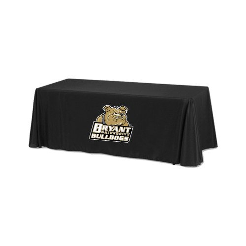 Bryant Black 6 foot Table Throw 'Bryant Official Logo' by CollegeFanGear