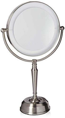 Zadro 10X Mag Next Generation LED Rechargeable Round Double Sided Satin Nickel Mirror (Mag Mirror Satin)