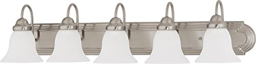 Nuvo Lighting 60/3282 Five Light Vanity, 5, Brushed Nickel/Frosted Glass