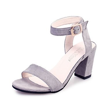 LFNLYX La mujer Casual PU Confort Primavera tacones Stiletto talón hebilla Plata Oro caminando Black