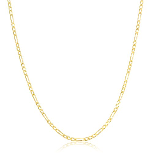 10k Yellow Gold 2.3mm Solid Figaro Chain (20 Inches)