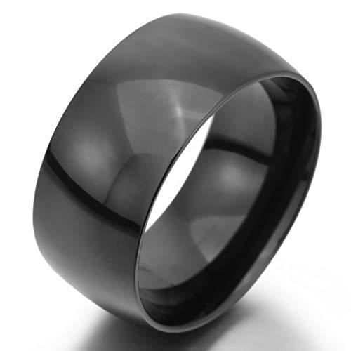 MeMeDIY 10mm Black Stainless Steel Ring Band Wedding Love Size 11 - Customized Engraving by MeMeDIY (Image #1)