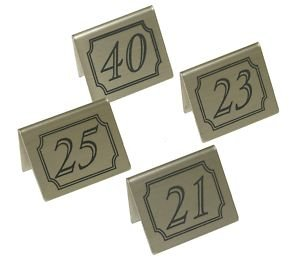 Stainless Steel Table Numbers For Restaurant Or Bar - Stainless steel table numbers