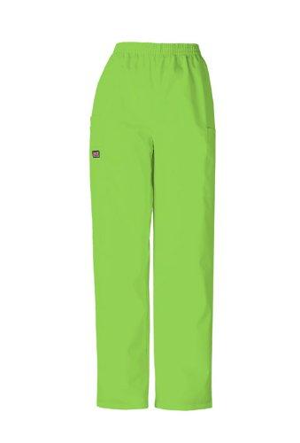 Scrubs - Cherokee Authentic Workwear 4200 PETITE Pull-On Cargo Scrub Pant (Lime Green, M-Petite) - Lime Cherokee Workwear