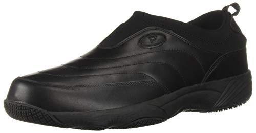 (Propet Men's Wash N Wear Slip On II Loafer, SR Black Leather, 11 E US)