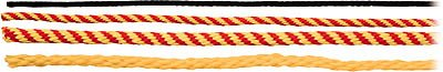 1/4 inch Red/Yellow Rope, per foot