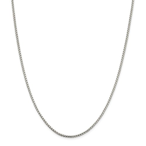 925 Sterling Silver 2mm Round Link Box Chain Necklace 20 Inch Pendant Charm Fine Jewelry For Women Gift Set