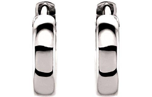 Platinum 14x3mm Hinged Hoop Ea